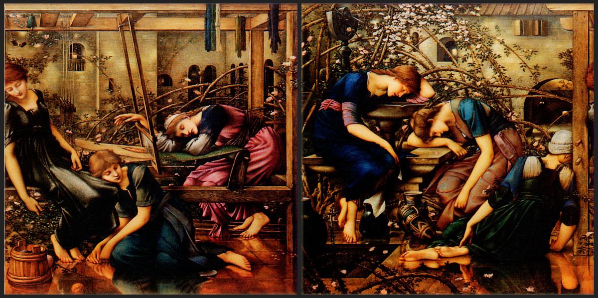 The Garden Court border tiles from Edward Burne-Jones Briar Rose series.