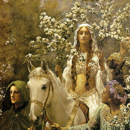 Guinevere Gone A'Maying, John Collier