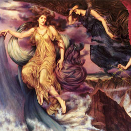 The Storm Spirits by Evelyn De Morgan