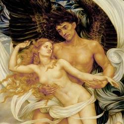 Boreas and Oreithyia by Evelyn De Morgan