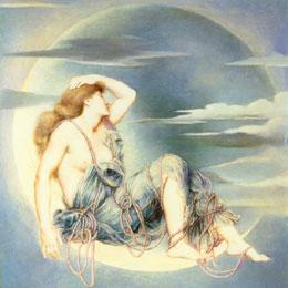Luna by Evelyn De Morgan