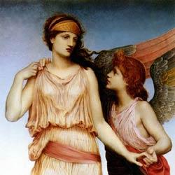 Venus and Cupid by Evelyn De Morgan