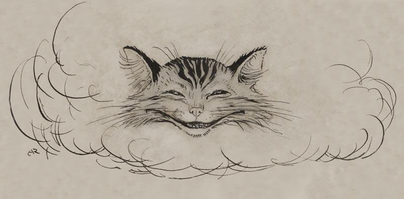 Arthur Rackham, Cheshire Cat, Alice in Wonderland