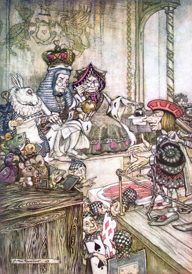 Who Stole the Tarts? Arthur Rackham, Alice in Wonderland