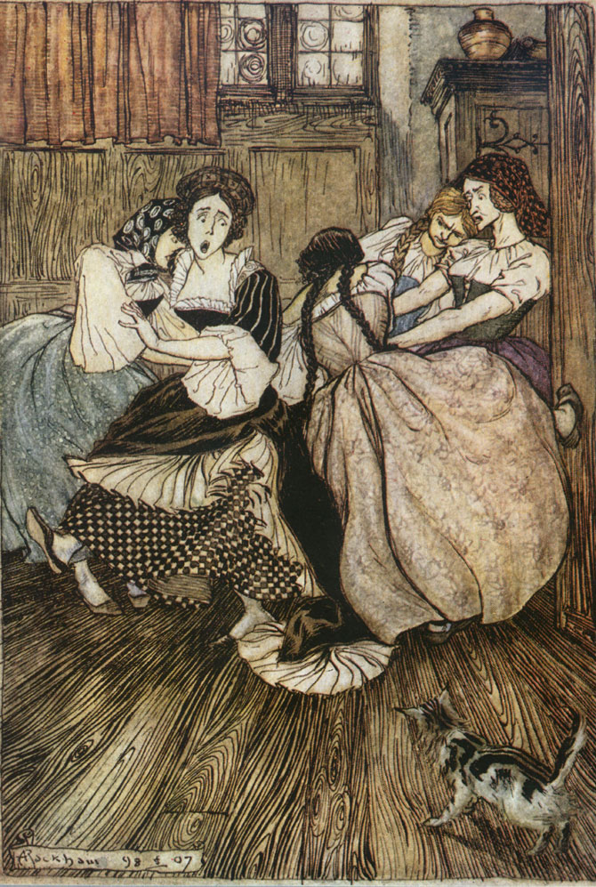 Oh good gracious! how tenacious, Arthur Rackham, The Ingoldsby Legends
