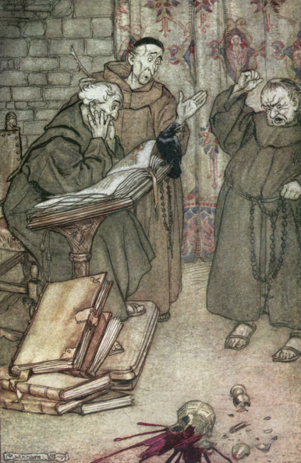 If anyone lied, if anyone swore.... Arthur Rackham, The Ingoldsby Legends