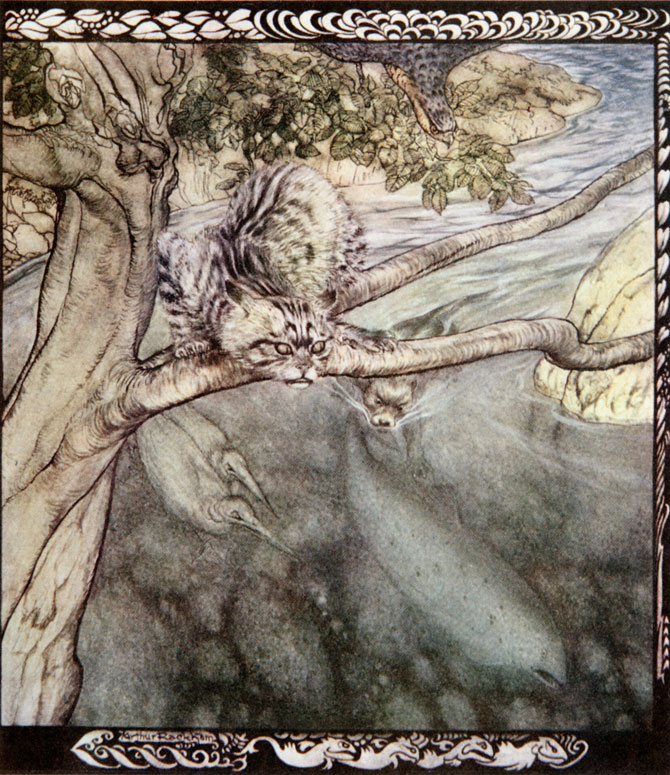 Every beast pursued me... so that I got no rest. Arthur Rackham, Irish Fairy Tales