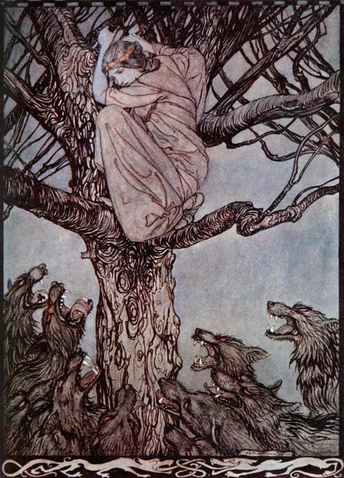 I'll be Eaten by Wolves, Arthur Rackham, Irish Fairy Tales