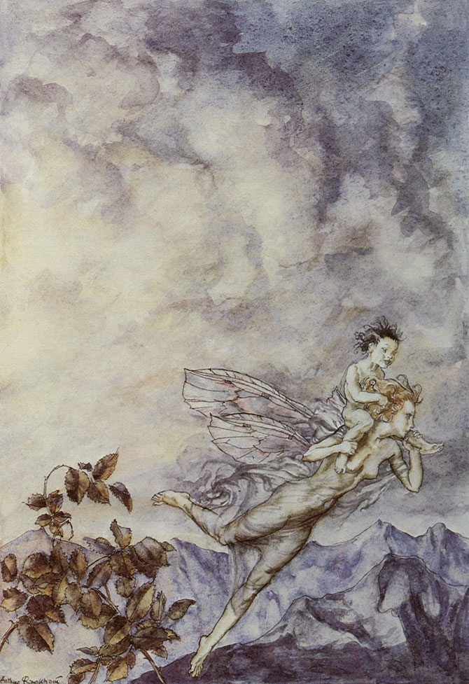 A changeling, Arthur Rackham, A Midsummer Night's Dream