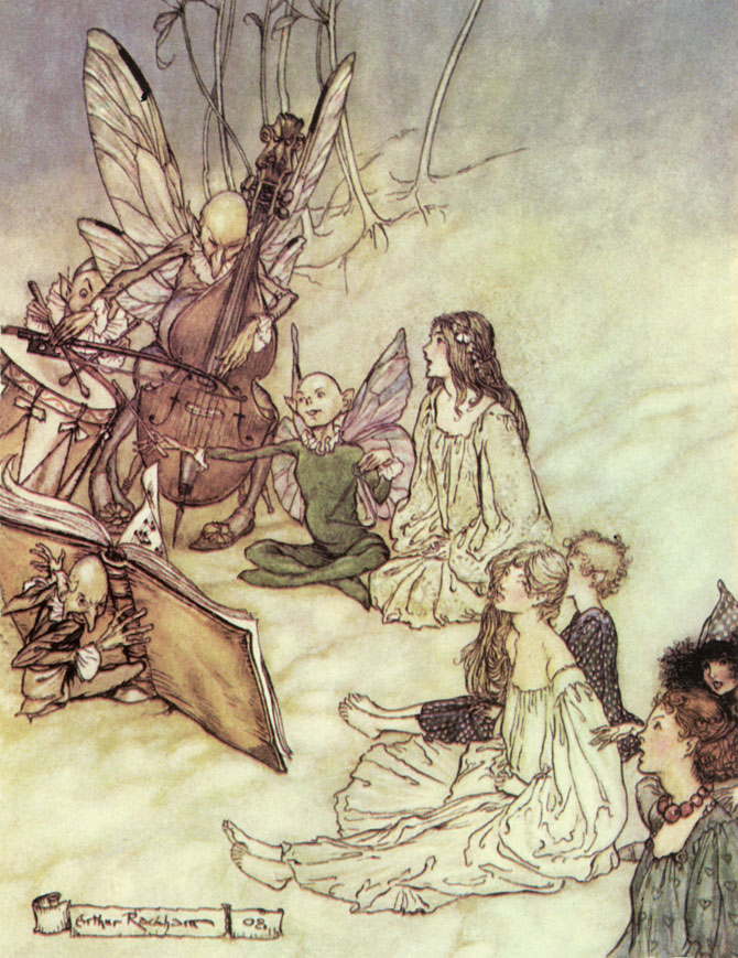 A Fairy Chorus, Arthur Rackham, A Midsummer Night's Dream