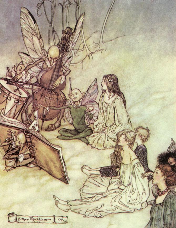 A Fairy Chorus, Arthur Rackham, A Midsummer Night's Dream