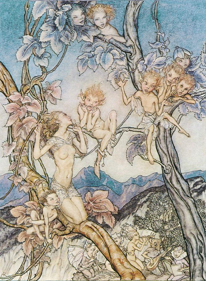 Fairy Song, Arthur Rackham, A Midsummer Night's Dream