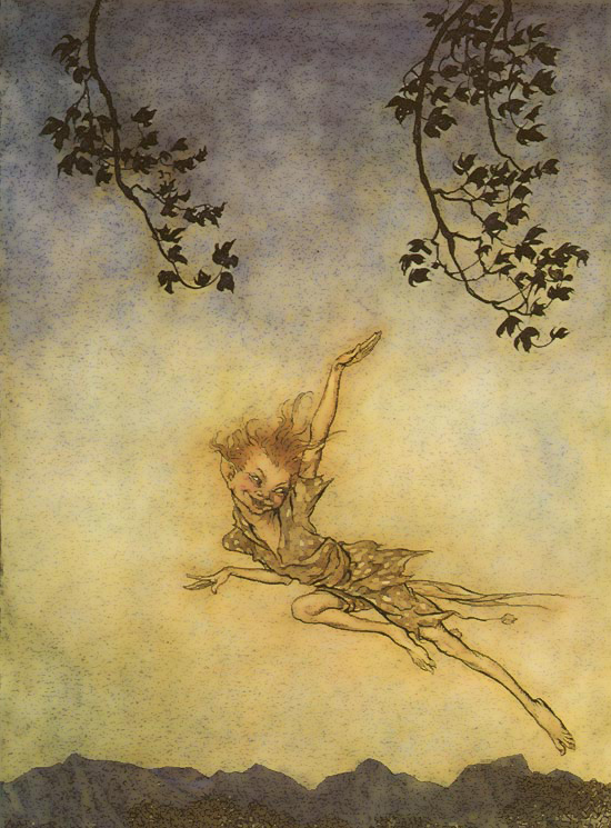 WPuck. Arthur Rackham, A Midsummer Night's Dream