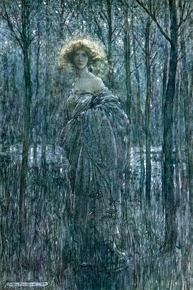 Fair Helena, A Midsummer Night's Dream, Arthur Rackham