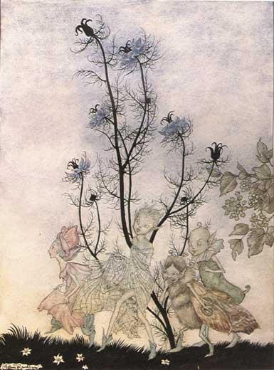 Three Fairies. Arthur Rackham, A Midsummer Night's Dream