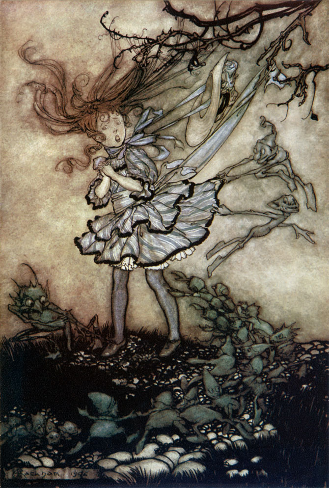They Will Mischief You. Arthur Rackham, Peter Pan in Kensington Gardens