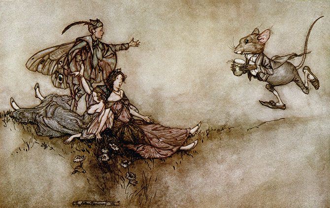 Wallflower Juice, Arthur Rackham, Peter Pan in Kensington Gardens