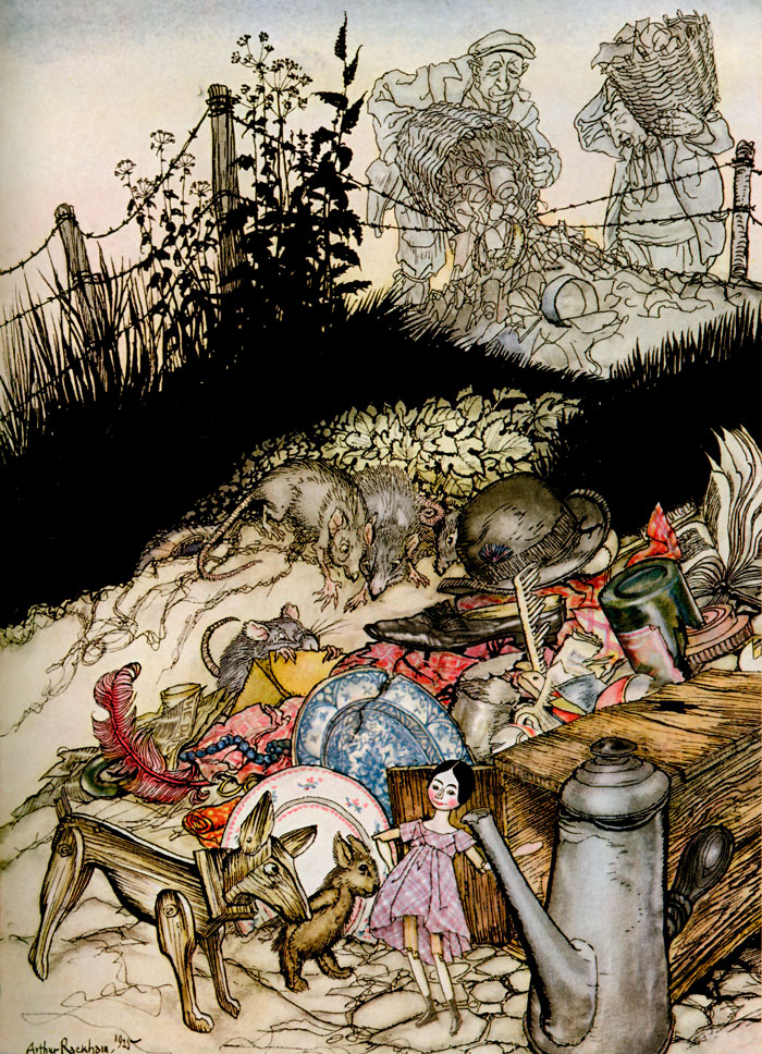 Jensina's Cottage, from Arthur Rackham's illustration to Poor Cecco