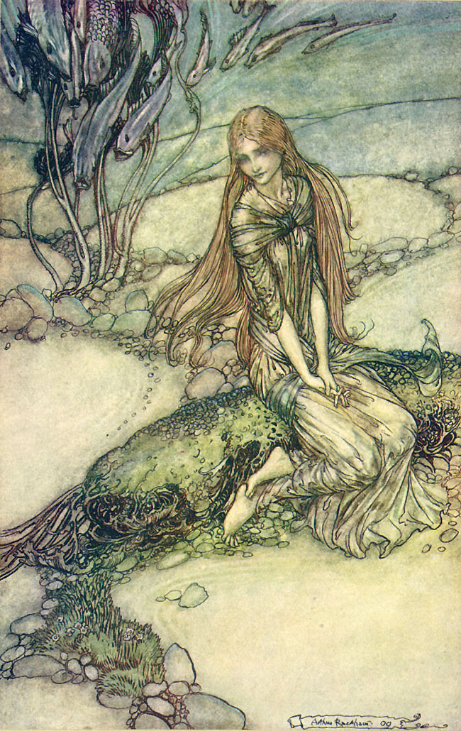 Beneath the Crystal Vault. Arthur Rackham, Undine