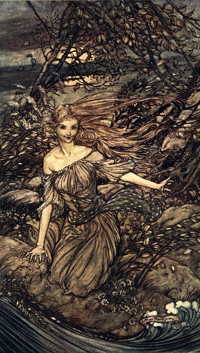 In the Branches. Arthur Rackham, Undine