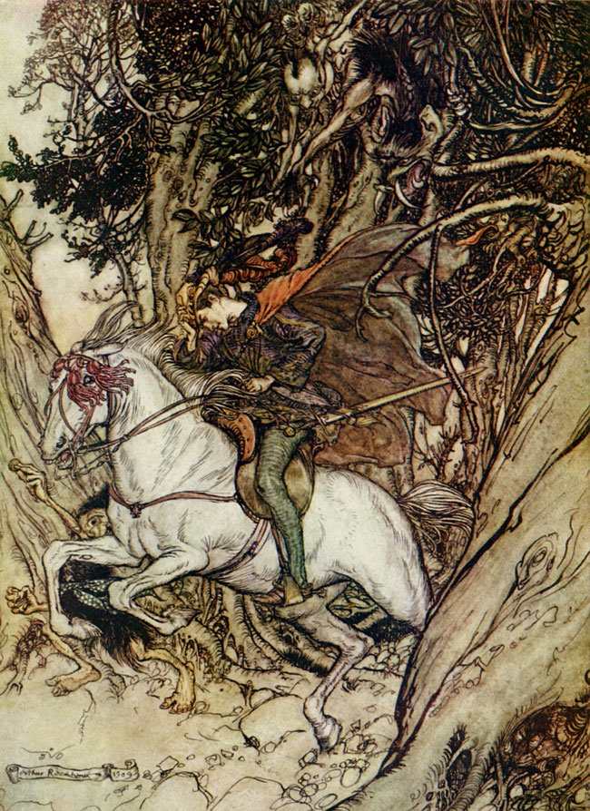 False Gold! Arthur Rackham, Undine
