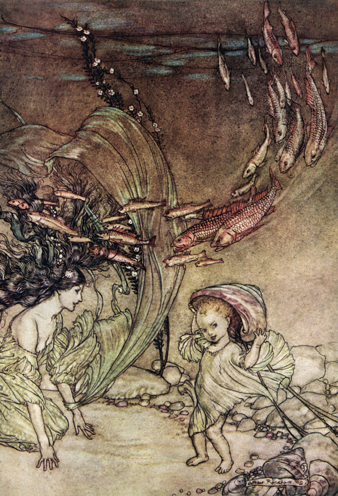 The Infancy of Undine, Arthur Rackham, Undine