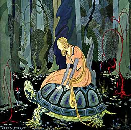 Virginia Frances Sterrett, She rode the tortoise