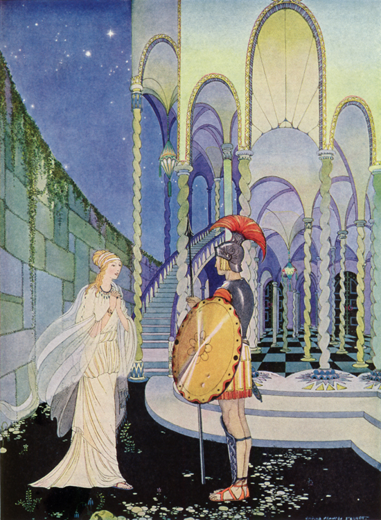 Proserpina refused the pomegranate Pluto offered her, Virginia Frances Sterrett